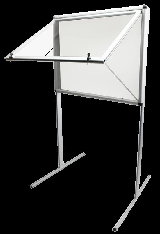 Gablota aluminiowa informacyjna (ogłoszeniowa) - wewnętrzna stojąca 1-stronna