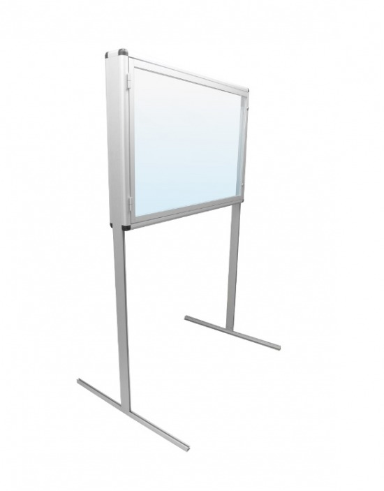 Gablota aluminiowa informacyjna (ogłoszeniowa) - wewnętrzna stojąca 2-stronna