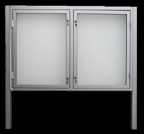 Gablota aluminiowa informacyjna (ogłoszeniowa) - zewnętrzna stojąca 1-stronna