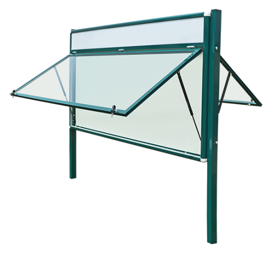 Gablota aluminiowa informacyjna (ogłoszeniowa) - zewnętrzna stojąca 2-stronna