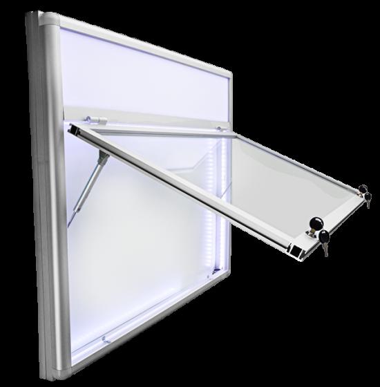 Gablota aluminiowa zewnętrzna podświetlana